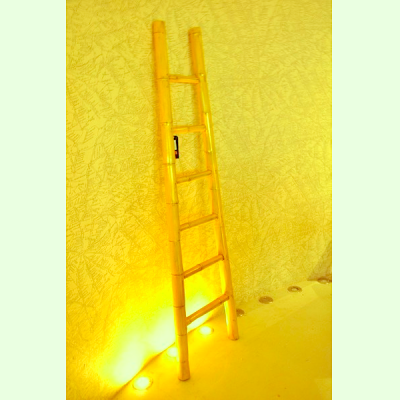Yellow Bamboo Ladder | White Bamboo Ladder | Bamboo ladders Hong Kong Chinese Decoraction HK Home Essentials Central | Vivid Chinese Furnishings Home