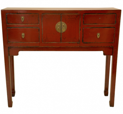 Red Chinese Duke of Chou Console | console table alter table Hong Kong Home Essentials | Chinese reproduction furniture Hong Kong Home Essentials Cent