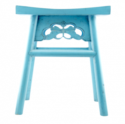 Light Blue Wooden Bar Stool