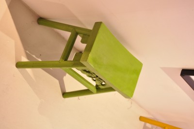 Green Wooden Stool (small)