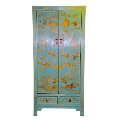 An Chi Dancing Cabinet | Chinese Reproduction Furniture Hong Kong Home Essentials | Armoires Wardrobes Hong Kong Home Essentials | colorful Chinese fu