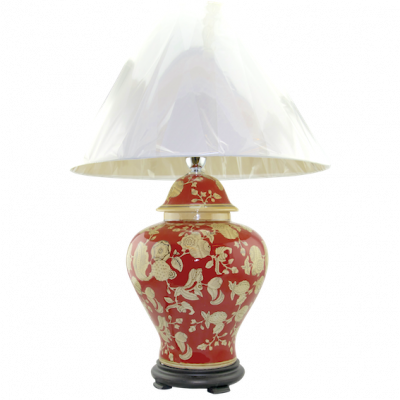Shang Dynasty Lamp Chinese Ceramic | Chinese ceramic vase lamps Hong Kong Home Essentials HK | hand painted vase lamps Chinese style ceramics HK Home