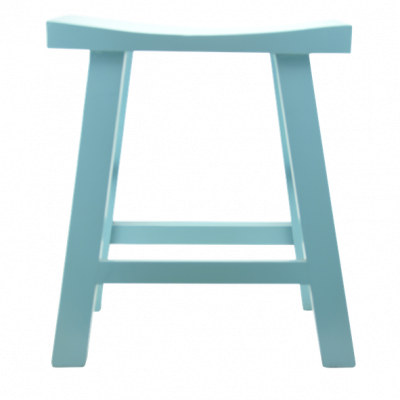 Low Wooden Stool - Turquoise |  Chinese stool table stool bar stool quality Chinese reproduction furniture Hong Kong Home Essentials HK
