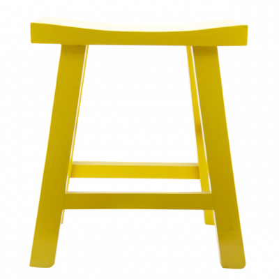 Low Wooden Stool - Yellow | Chinese stool table stool bar stool quality Chinese reproduction furniture Hong Kong Home Essentials HK