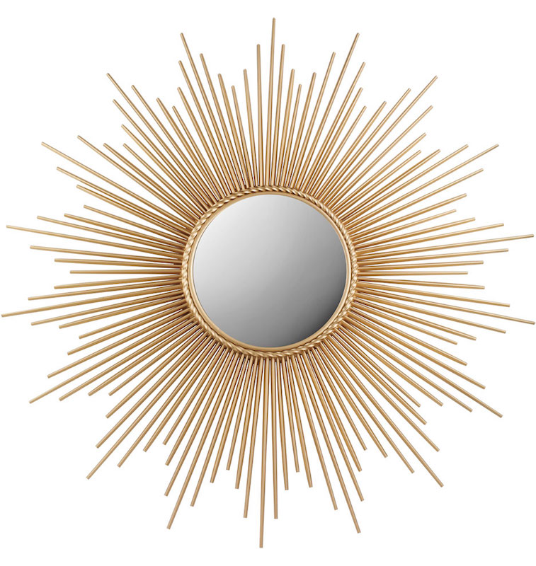Sunburst Mirror Gold Mirrors Hong Kong Home Essentials