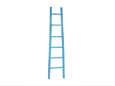 Light Blue Bamboo Ladder | Chinese bamboo ladder decorative ladder rack Hong Kong Home Essentials Central HK | bright color decor functional bamboo la