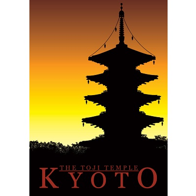 Kyoto Temple Travel Poster
