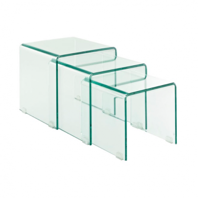 Glass Nesting Table glass coffee table end table HK Hong Kong Home Essentials quality coffee tables Hong Kong