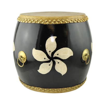 Hong Kong Flag Drum Stool BLK