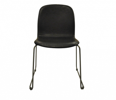 Clove Leather Dining Chair - Black Color