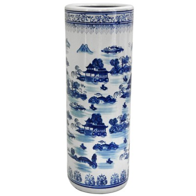 Blue Willow Ceramic Umbrella Stand | ceramic umbrella stands Hong Kong Home Essentials Central HK | Chinese style umbrella stands Hong Kong Home Essen