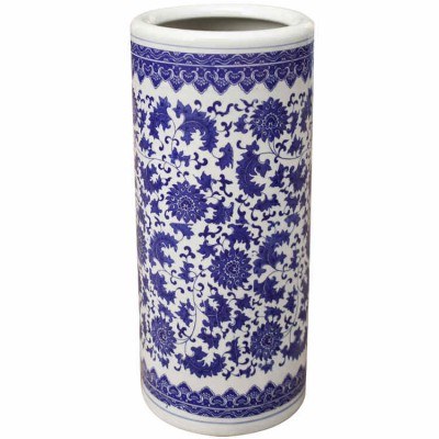Mudan Ceramic Umbrella Stand | ceramic umbrella stands Hong Kong Home Essentials Central HK | Chinese style umbrella stands Hong Kong Home Essentials