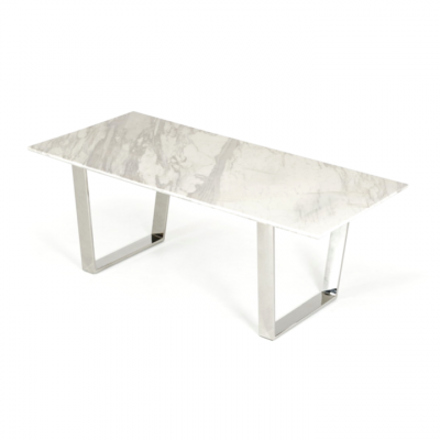 Boras Marble Dining Table Hong Kong White Central