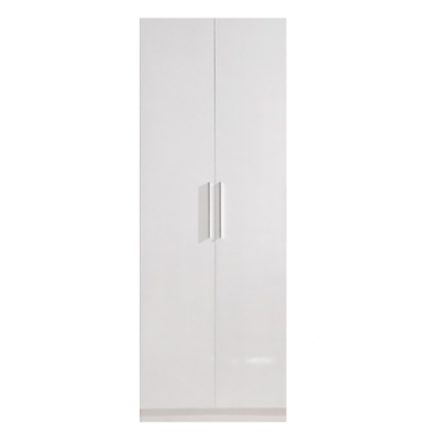 High Gloss White Wardrobe - 2 door | wardrobes Hong Kong Home Essentials Central HK | Bedroom Wardrobes closets HK Hong Kong Home Essentials modern