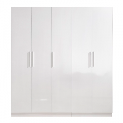 High Gloss White Wardrobe - 5 Door | wardrobes Hong Kong Home Essentials Central HK | Bedroom Wardrobes closets HK Hong Kong Home Essentials modern