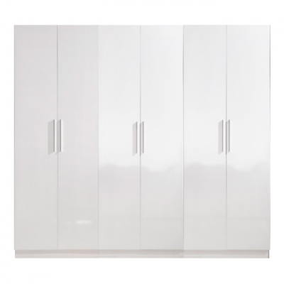 High Gloss White Wardrobe - 6 Door | wardrobes Hong Kong Home Essentials Central HK | Bedroom Wardrobes closets HK Hong Kong Home Essentials modern