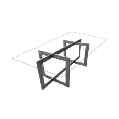 Lahti Glass Dining Table