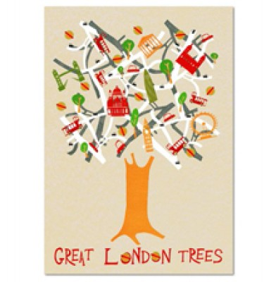 London Tree Poster 33x50cm