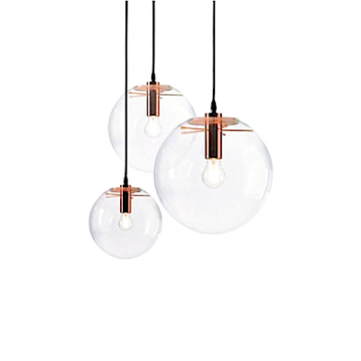 Sandra's Glass Ball Pendant Light rose gold