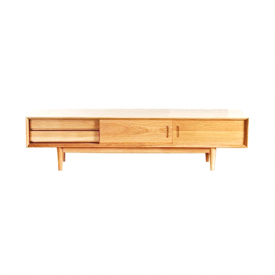 Malmo TV Cabinet Solid Oak Wood Modern Hong Kong