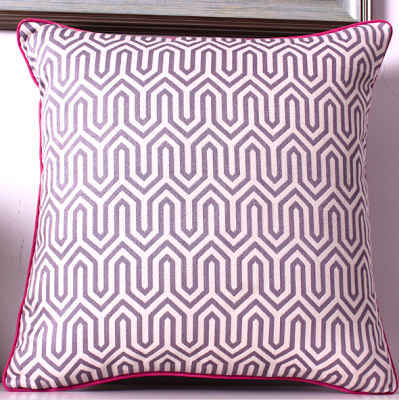 zig zag cushion cover - lavender | decorative cushion covers scatter cushions hong kong Home Essentials Central HK | decorative cushions seat cushions