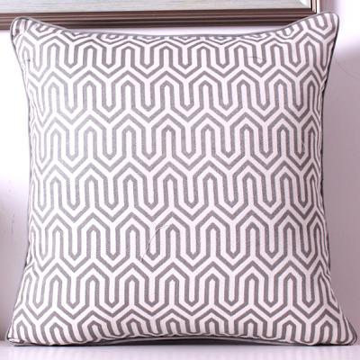 zig zag cushion cover - grey