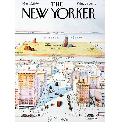 New Yorker Map Poster