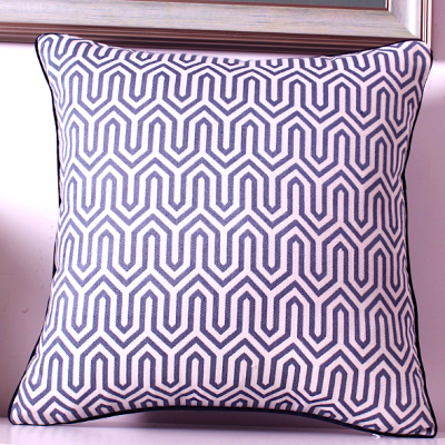 zig zag cushion cover - navy | decorative cushion covers scatter cushions hong kong Home Essentials Central HK | decorative cushions seat cushions Hon