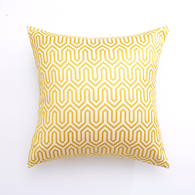 zig zag cushion cover - yellow | decorative cushion covers scatter cushions hong kong Home Essentials Central HK | decorative cushions seat cushions H