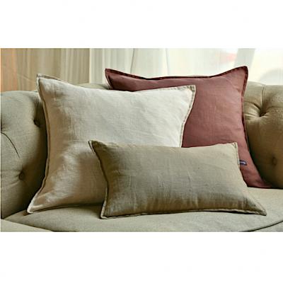 Linen Cotton Blend Cushion Cover - Earth | | linen scatter cushions Hong Kong Home Essentials soft cushion covers linen cotton colorful pastel