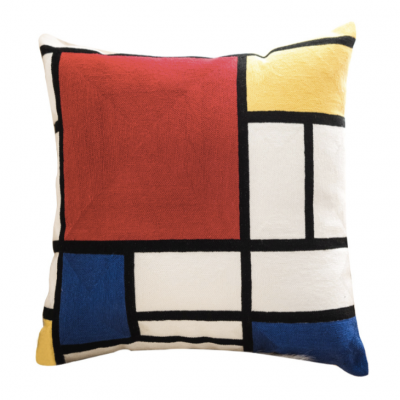 piet Cushion retro geo pattern pillow Hong Kong Embroidery Home essentials