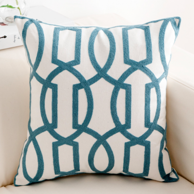 modern cushion geo pattern pillow Hong Kong Embroidery Home essentials