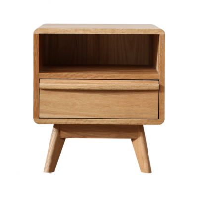 Pori Solid Oak Bed Side Table / Nighstand