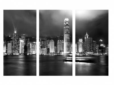 Coat of arms hkd 3600 00 · hong kong skyline tryptic poster black and white
