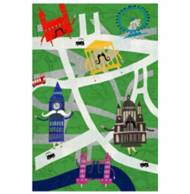London Transport Tree Travel Poster