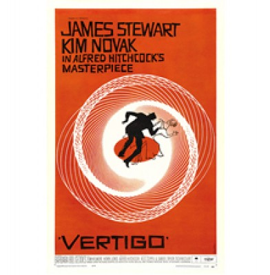 Vertigo movie poster Hitchcock Hong Kong Home Essentials