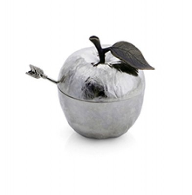 Apple Honey Pot with Spoon - Nickel