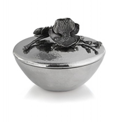 Black Orchid Covered Candy Dish