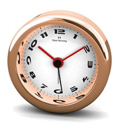Desire 58MM Chrome and Rose Gold Alloy Alarm H58R49W