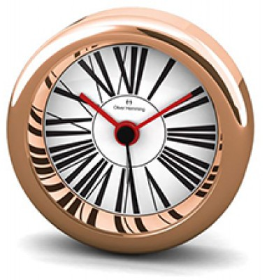 Desire 58MM Chrome and Rose Gold Alloy Alarm H58R53W