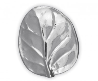 Nickelplate Botanical Leaf Knob Large