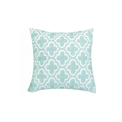 Moroccan Pattern Knitted Cushion - Teal