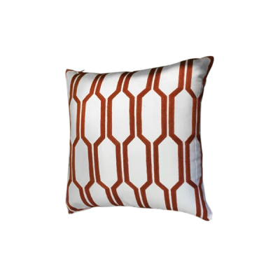 Hexa Knitted Cushion - Red Line