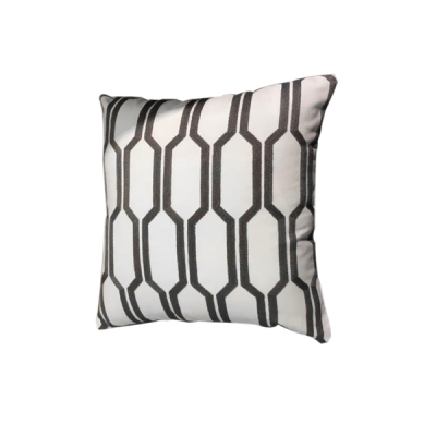 Hexa Knitted Cushion - Grey Line