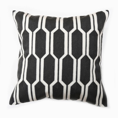 Hexa Knitted Cushion - Black | scatter cushions hong kong Home Essentials Central HK | decorative cushions seat cushions Hong Kong Home Essentials Cen
