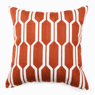 Hexa Knitted Cushion - Red | scatter cushions hong kong Home Essentials Central HK | decorative cushions seat cushions Hong Kong Home Essentials Centr