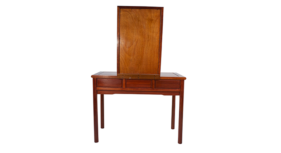 Ming Dressing Table Chinese Oriental Style Home Furniture Dark Polished Wooden Dressing Table