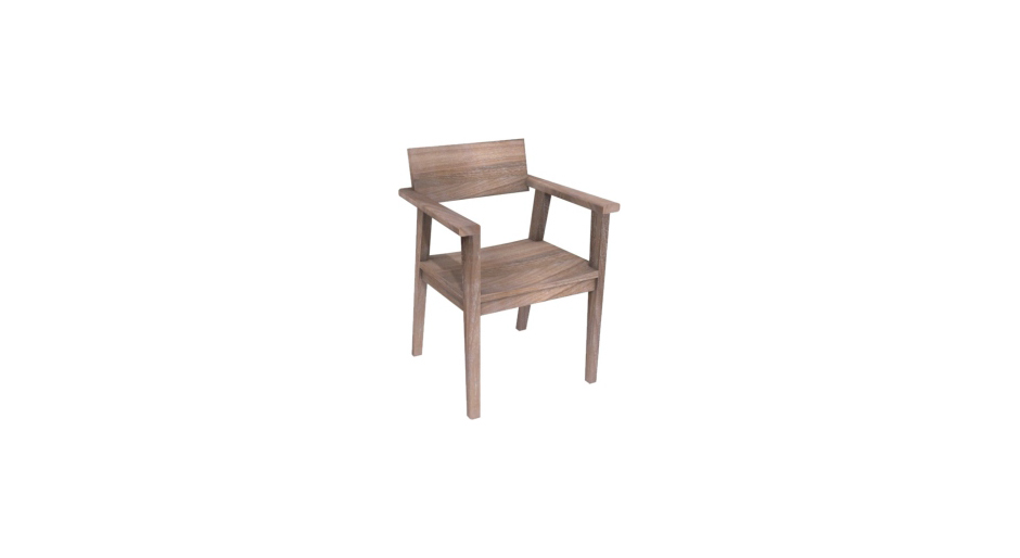 Oslo Armchair Gray Erosi Modern Simple Natural Material Wooden Arm Chair Dining Study Living