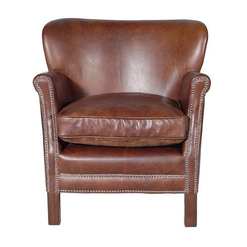 Beau Oxford Leather Club Chair   Brown | Oxford Leather Club Chair   Brown |  Leather Club Chairs Hong Kong Home Essentials Central HK | Vintage Worn  Leather ...