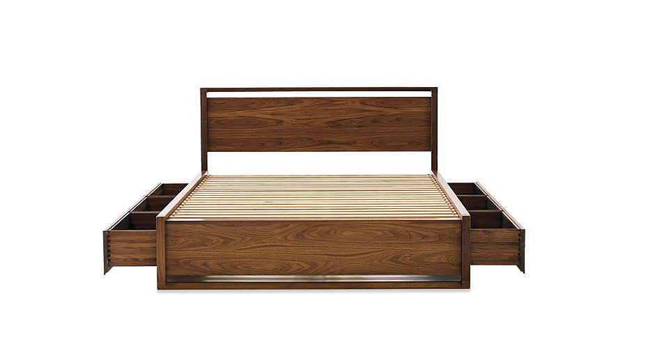 Wooden Bed Frame With Storage - Wooden Designs